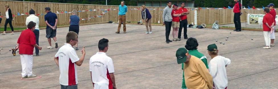 New Boules terrain at Larkhall Sports Club